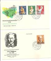 F.D.C. Wohlfahrtsmarken 1958 - BRD
