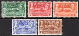BARBADOS - 1939 TERCENTENARY SET (5V) FINE MOUNTED MINT MM * SG 257-261 - Barbados (...-1966)