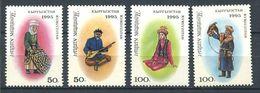 241 KIRGHIZSTAN 1995 - Yvert 40/43 - Costume Musique Aigle - Neuf ** (MNH) Sans Trace De Charniere - Kirghizistan
