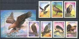 241 KIRGHIZSTAN 1995 - Yvert 51/57 BF 9 - Oiseau Rapace - Neuf ** (MNH) Sans Trace De Charniere - Kirghizistan