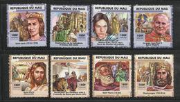 Pape Papst Pope Papa Papiez  Jean Paul II Mali YT **  1621/28 MNH J,D Arc Charlemagne Saint Louis .... - Popes
