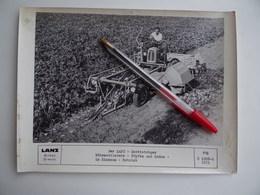 Photo Originale Publicité GIBOUIN TRACTEUR AGRICOLE ARRACHEUSEà BETTERAVE LANZ Région De NANGIS Agriculture Céréalier - Métiers