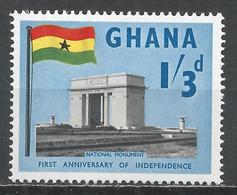 Ghana 1958. Scott #19 (M) National Monument * - Ghana (1957-...)