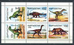 241 KIRGHIZSTAN 1998 - Yvert 120/25 En Feuillet - Dinosaure - Neuf ** (MNH) Sans Trace De Charniere - Kirghizistan