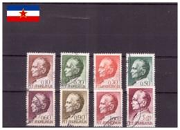 Yougoslavie 1967/1972 - Oblitéré - Tito - Michel Nr. 1233 1235-1236 1238-1239 1241-1242 1246 (yug462) - 1945-1992 República Federal Socialista De Yugoslavia