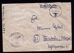 A5742) DR Feldpost Brief 29.3.44 4.SS-Panzer-Grenadier-Division In Griechenland - Allemagne