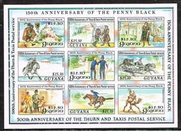 Guyana 1990 , Postbeförderung In Vergangenen Jahrhunderten, Mi. 3108 - 16 CI  Postfr. / MNH / Neuf - Post