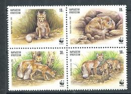241 KIRGHIZSTAN 1999 - Yvert 135/38 - Renard WWF - Neuf ** (MNH) Sans Trace De Charniere - Kirghizistan