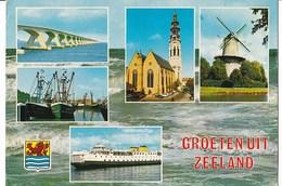 Nederland - Zeeland - Collagekaart - Meerdere Afbeeldingen - Kleur/color - Gebruikt - Nederland
