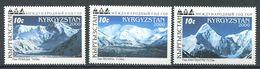 241 KIRGHIZSTAN 2000 - Yvert 159/61 - Montagne - Neuf ** (MNH) Sans Trace De Charniere - Kirghizistan