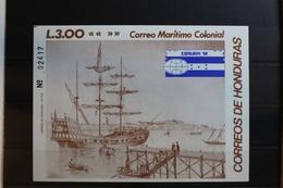 Honduras Block 40 ** Postfrisch Schiffe #RR659 - Honduras