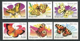 241 KIRGHIZSTAN 2000 - Yvert 162/67 - Papillon - Neuf ** (MNH) Sans Trace De Charniere - Kirghizistan