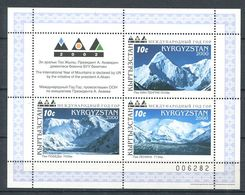 241 KIRGHIZSTAN 2000 - Yvert BF 24 - Montagne - Neuf ** (MNH) Sans Trace De Charniere - Kirghizistan