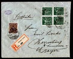 A5745) DR Infla R-Brief Nassau 30.06.23 M. Mi.183W OR (2) Ua. - Deutschland