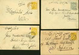 IRAN 1888 LOT De 4 Entiers Voyages En Service Interieur (DD) DC-0998 - Iran