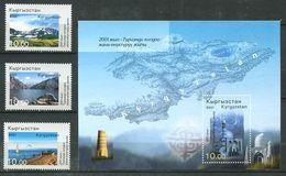 241 KIRGHIZSTAN 2001 - Yvert 177 G/J BF 24 B - Paysage Montagne Mosquee - Neuf ** (MNH) Sans Trace De Charniere - Kirghizistan