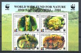 241 KIRGHIZSTAN 2001 - Yvert 177 N/R Surcharge - WWF Renard - Neuf ** (MNH) Sans Trace De Charniere - Kirghizistan