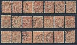 CH-169: FRANCE: Lot  Avec N°94 (21) Belles Oblitérations - 1876-1898 Sage (Type II)