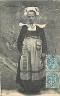 CPA 29 FINISTERE Costumes Bretons Bretagne Jeune Fille Fouesnant GB Brest Fillette Debout 1904 - Fouesnant