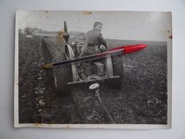 Photo Publicité 1er ESSAIS TRACTEUR Agricole 12/20 LANZ 1932 Ets M.GIBOUIN à NANGIS Agriculture Céréalier - Métiers