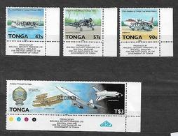 #B58A#  TONGA YVERT 751/754 MNH** SPECIMEN. SPACE, AIRPLANE, AVIATION. AVION. - Tonga (1970-...)