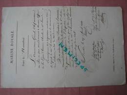 NANTES 1899 Marine Royale Port De Nantes Nomination En Grade Du 29 Avril TBE - Historical Documents