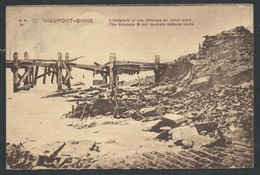 +++ CPA - Guerre 1914-18 - Ruines - NIEUWPOORT - NIEUPORT - L'estacade Et Nos Défenses En Béton Armé    // - Nieuwpoort
