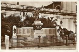 "1927 ""S.MARIA CAPUA VETERE (NAPOLI) MONUM. AI CADUTI NELLA GRANDE GUERRA"" CARTOLINA POSTALE ORIGINALE SPEDITA - Autres Villes"