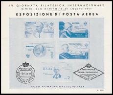 Rimini-San Marino 18/20 Luglio 1947 Esposizione Di Posta Aerea - Erinnofilia