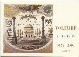 Franc-maçonnerie, Toulouse, Loge Voltaire,invitation Pour La Fête Des 20 Ans De L'atelier, 2 Volets 1994, Tablier Ancien - Philosophie