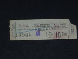 Ancien Ticket Tramway, Bruxelles Belgique. Chemins De Fer économiques Avec Surcharge. Ticket Autobus, Train, Metro. - Tramways