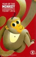 Hong Kong Transport Cards, Year Of The Monkey (1pcs,sample) - Hong Kong