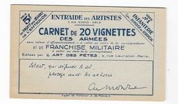 Carnet Franchise Militaire N°10A   20 Vignettes Des Armées - Franchise Militaire (timbres)