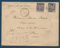 Aube  - Cachet CHARGEMENTS TROYES - Marcophilie (Lettres)