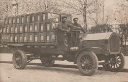 Jolie Carte Postale Photo Ancienne - Très Beau Plan De Camion De Livraison - Envoyé à Aix Les Bains - Non Classés