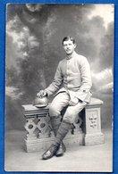 Carte Photo -- Soldat Français -- Du 65 RI - Guerre 1914-18