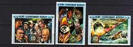 Comores P.A. N° 95 / 97 XX Coopération Spatiale USA-URSS, Les 3 Valeurs Trace De Charnière Sinon TB - Comores (1975-...)