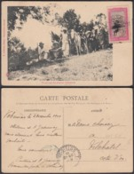 """Madagasgar 1910 - CP Voyagée """"Un Paysage Des Plateaux D'Abyssinie """"(6G) DC1019 - Madagascar"""