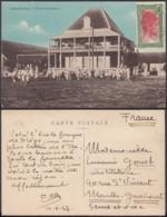 """Madagasgar 1937- CP Voyagée  """" Diégo-Suarez - L'Ecole Européenne """"(6G) DC1027 - Madagascar"""