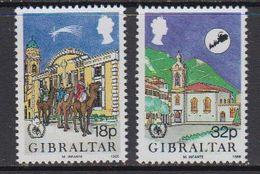 Gibraltar 1986 Christmas 2v ** Mnh (41447F) - Gibilterra