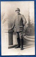 Carte Photo -- Soldat Français --  Abimée - Guerre 1914-18