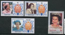Ste Lucie ** 810 à 813 - 60 Ans De La Reine Elizabeth II - St.Lucie (1979-...)