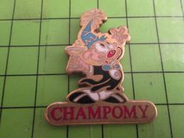 1118A Pin's Pins /  Belle Qualité Et Rare / THEME BOISSON : CHAMPOMY BOISSON A LA POMME - Beverages