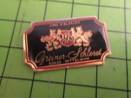1118A Pin's Pins /  Belle Qualité Et Rare / THEME BOISSON : VINS D'ALSACE GREINER SCHLERET - Beverages