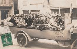 Jolie Carte Postale Photo Ancienne - Photo Lançon - Postée à Chambéry - Gros Plan D'autobus - Eugène Martin - Voiron - Non Classés