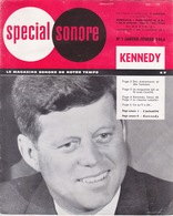 1964 - N°1 JANVIER FERVIER - Vinyle Spécial Sonore - KENNEDY - SPECIAL SONORE LE MAGAZINE DE NOTRE TEMPS - Formats Spéciaux