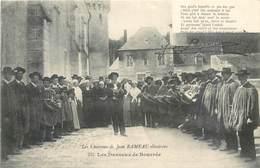 CPA LES CHANSONS DE JEAN RAMEAU ILLUSTREES 223 Les Danseux De Bourrée Paysans Costumes Musique Instruments - France