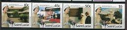 Ste Lucie ** 814 à 817 - 60 Ans De La Reine Elizabeth II - St.Lucia (1979-...)