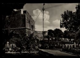 B9308 MANFREDONIA - CASTELLO ANGIOINO B\N VG 1956 - Manfredonia