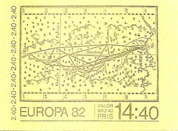 SWEDEN, 1982, Booklet 336. (Facit), Mi 1188,  Europa- Celsius - Carnets